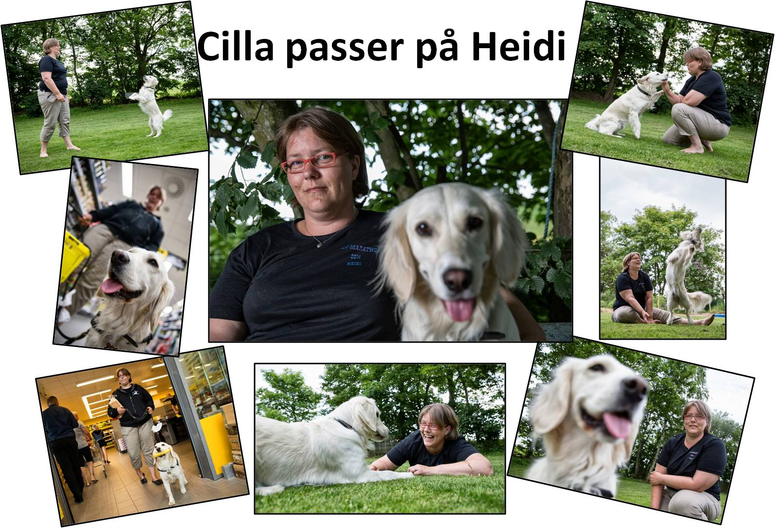 Cilla passer på Heidi collage